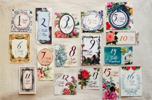 Bold-Floral-Table-Numbers-Lucky-to-Be-in-Love-John-Schnack-Photography