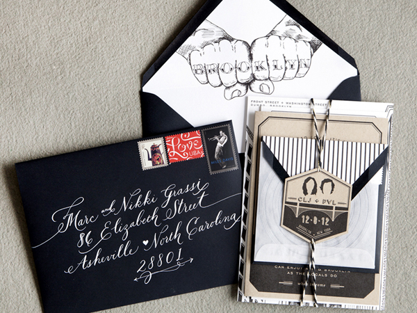 Wedding invites inspiration artchatterblog brooklyn wedding invitations swiss cottage design2 stopboris Gallery